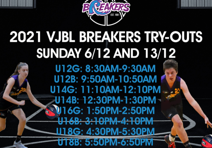 2021 Breakers Try Outs For Release